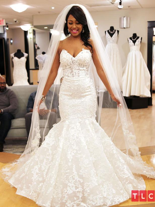 Say Yes To The Dress Atlanta Bride Brandi The Dress Brandi Wowed The Room In This Beautiful Dress By Allure Cout In 2020 Dresses Dress Gallery Dream Wedding Dresses