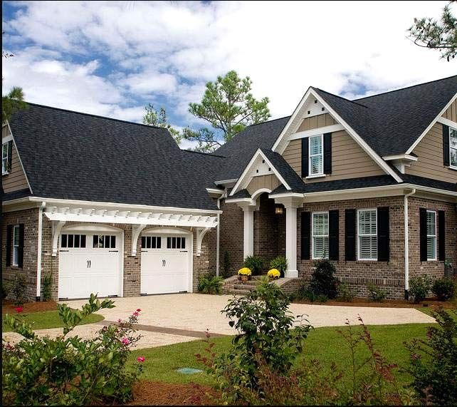 Vinyl And Brick Exterior Homes Brick Siding Home