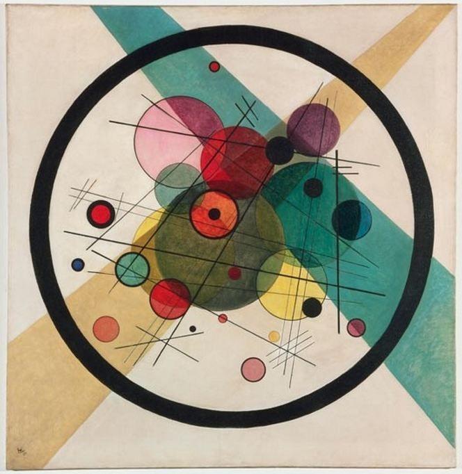 Wassily Kandinsky Circles In A Circle 1923 Via Wikimedia Kandinsky Art Bauhaus Art Circle Art
