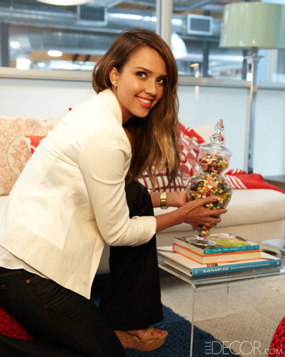Decorate office jessica Bedroom The Honest Company New Office From Actress And Founder Jessica Alba Cb2 Pinterest How To Decorate An Office With Jessica Alba Role Model Pinterest