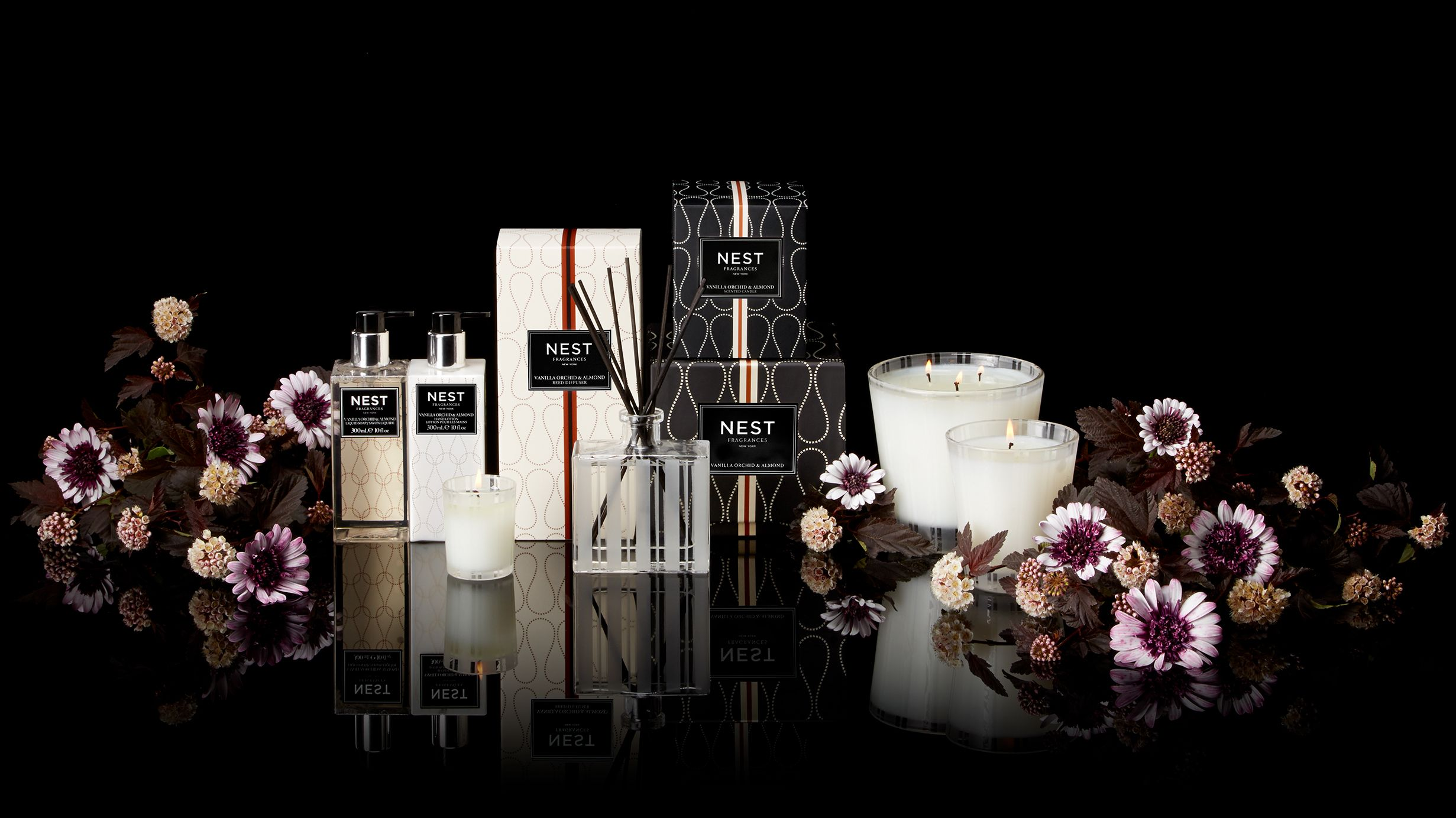 Vanilla orchid u almond home fragrance collection nestfragrances