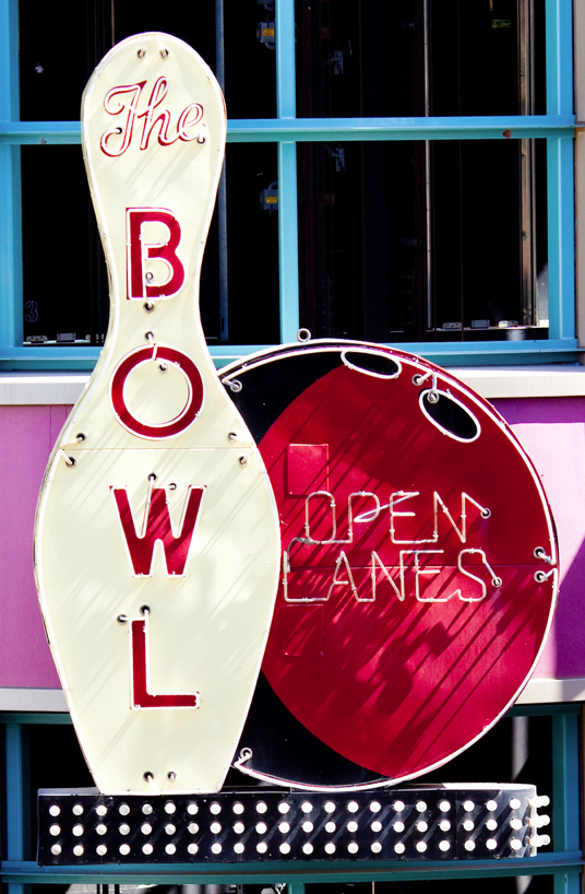 Bowl Open Lanes Vintage Neon Signs Neon Signs Bowling