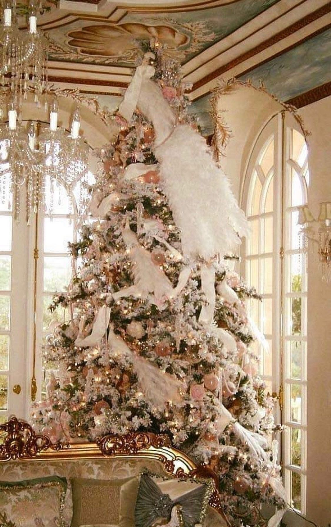Pin By Beautiful Places On Insporational Quotes Shabby Chic Christmas Tree Shabby Chic Christmas Decorations Victorian Christmas Tree