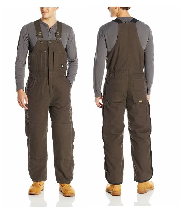 berne mens brown original washed insulated bib coverall on best insulated coveralls for men id=30133