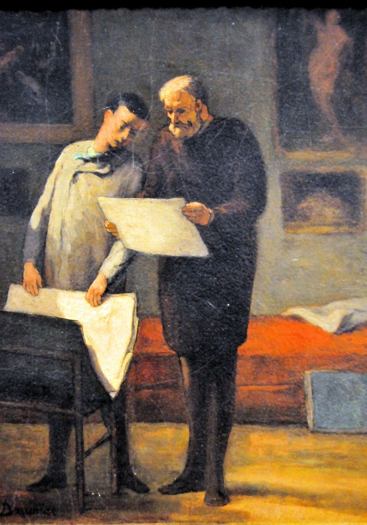 Honore Daumier Advice to a Young Artist at National Art