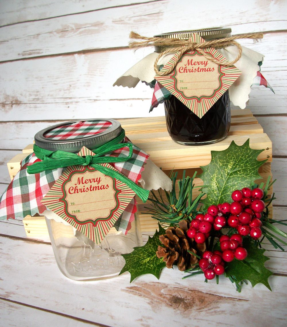 Christmas Cloth Jar Toppers Name Tags And Ribbon For Ball Mason Canning Jars For Holiday Gifts Mason Jar Christmas Gifts Christmas Mason Jars Christmas Jam