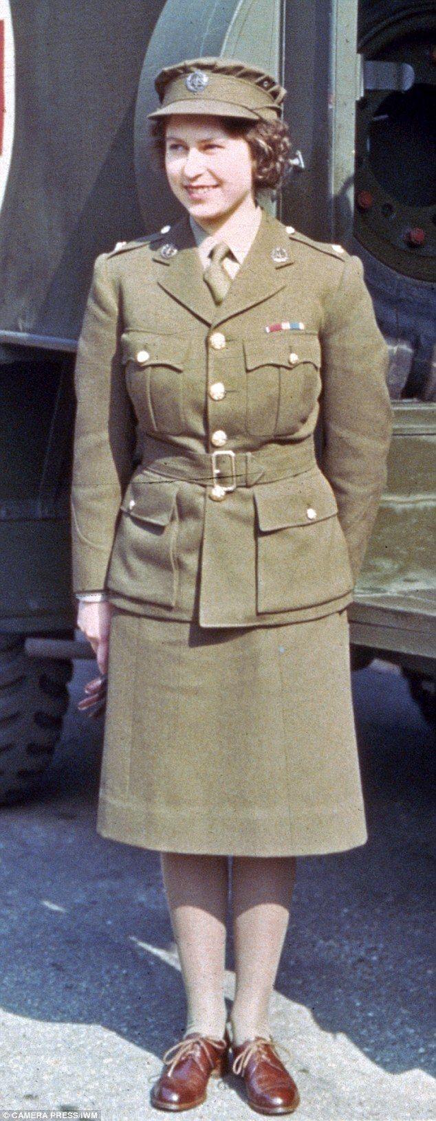 The image of Queen Elizabeth as an 18-year-old (pictured) in wartime ambulance service uniform is more reflective of her reputation than that of her giving a Nazi salute as a child, writes Sarah Bradford