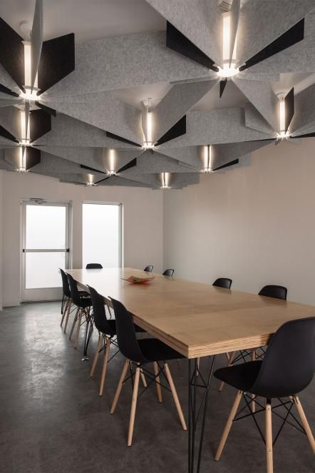 Conference Room Lighting Design: LightArt (3Form), Acoustical Products. Echo
