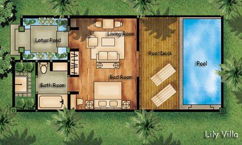Guest House And Pool Bali Denah Rumah Arsitektur Desain Rumah