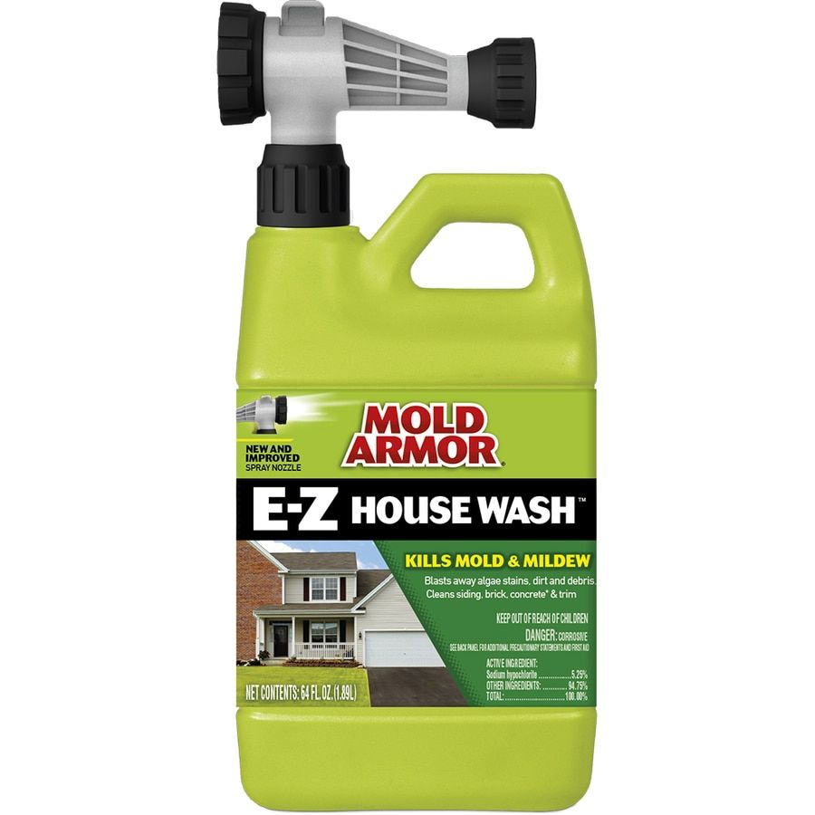 Mold Armor 64 Fl Oz House And Siding Outdoor Cleaner Lowes Com In 2020 House Wash Mildew Remover Clean Siding