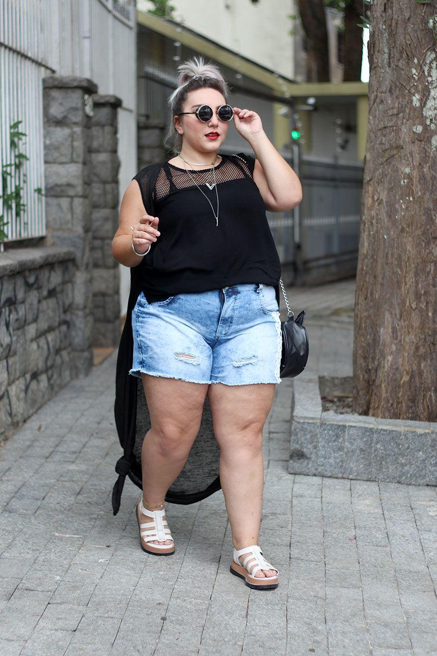 239baba00 Olá queridas, eu sempre tive uma questão muito forte com short jeans plus  size... Sempre quis usar mas ainda não consigo!!! Mas hoje tudo pode mudar.