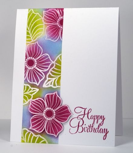 Gorgeous card, must be by Heather Telford: petal party panel