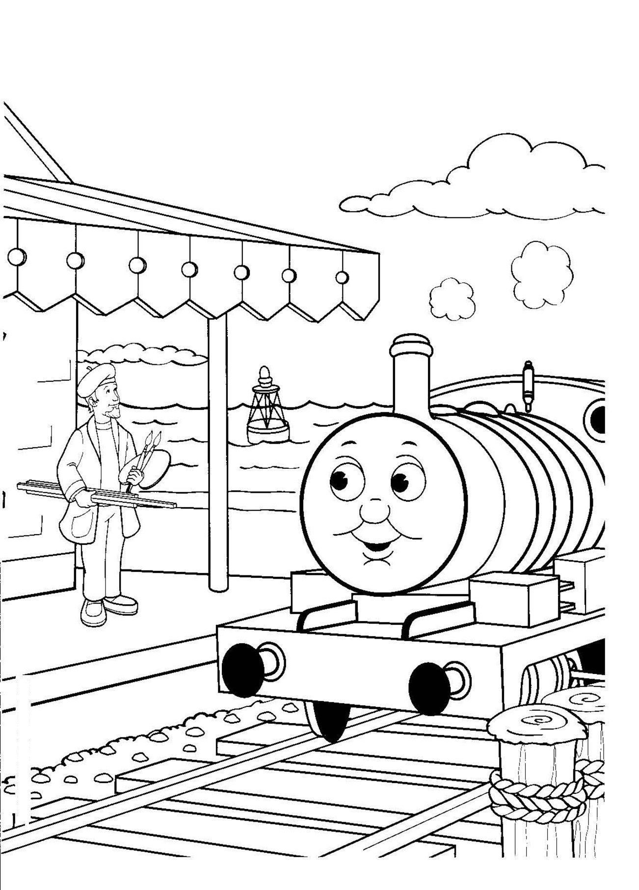 Colouring Train Game Images