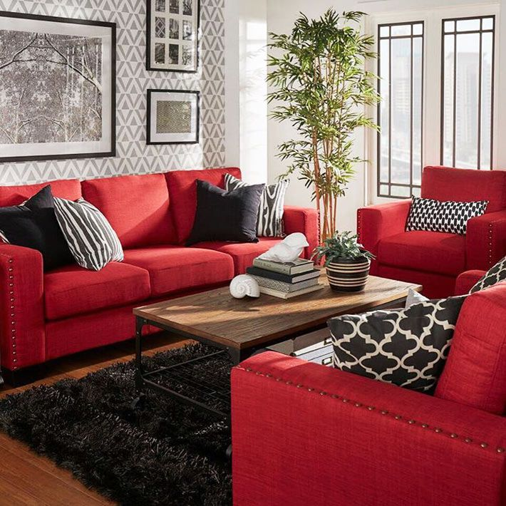 Красный диван в современном интерьере | Фото красивых ...