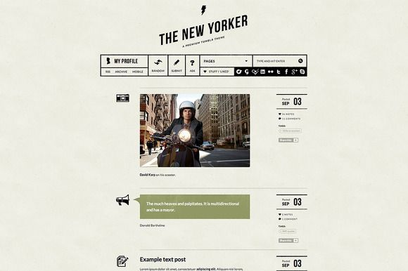 The New Yorker ~ Tumblr Themes on Creative Market
