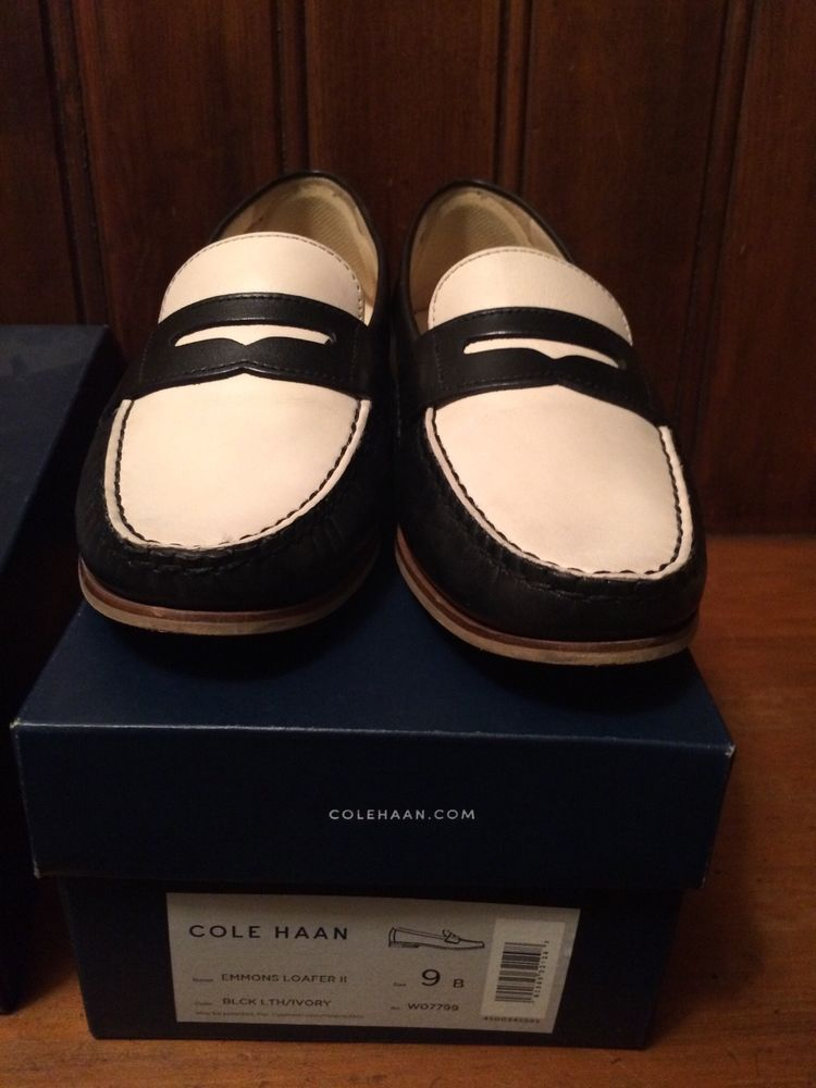 75299f011a6 Cole Hahn two-tone penny loafer black white women s size 9B  fashion   clothing  shoes  accessories  womensshoes  flats (ebay link)