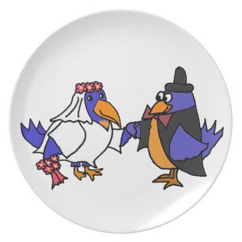 Funny Bluebirds Bride and Groom Wedding Dinner Plate  sc 1 st  Pinterest & Funny Bluebirds Bride and Groom Wedding Dinner Plate   Funny Wedding ...