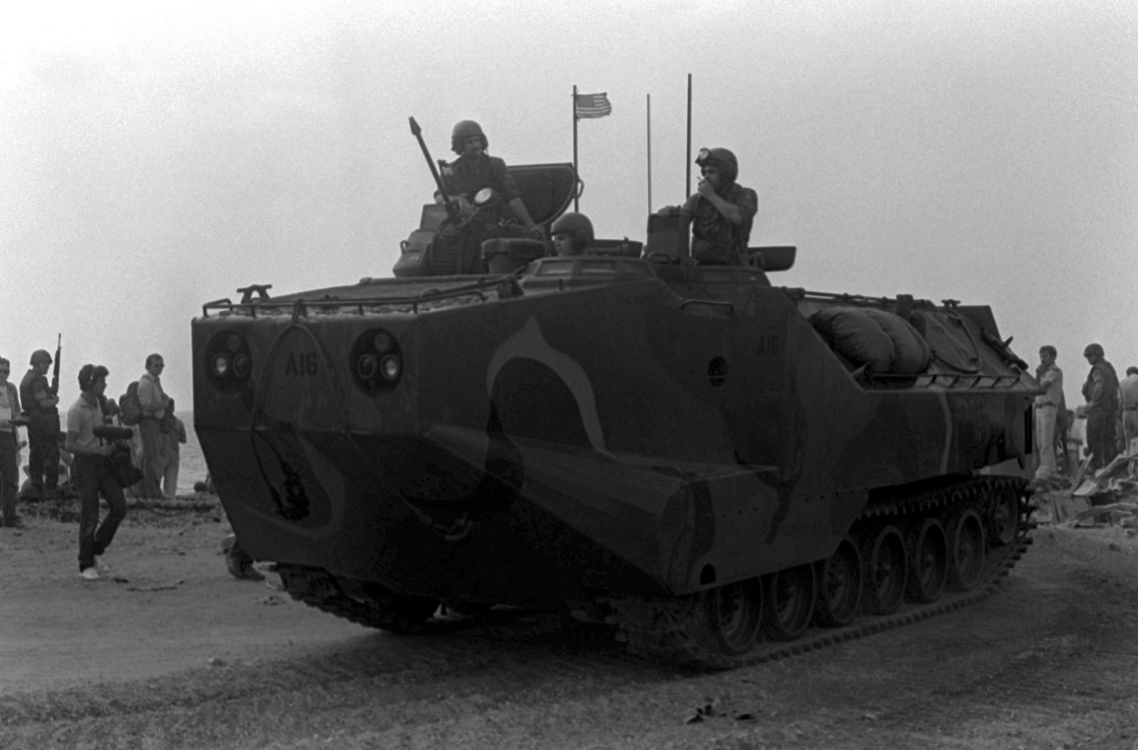Download Image Of U S Marines Come Ashore In A Lvtp 7 Tracked Landing Vehicle U S Marines Have Been Assi Marines Palestine Liberation Organization Vehicles