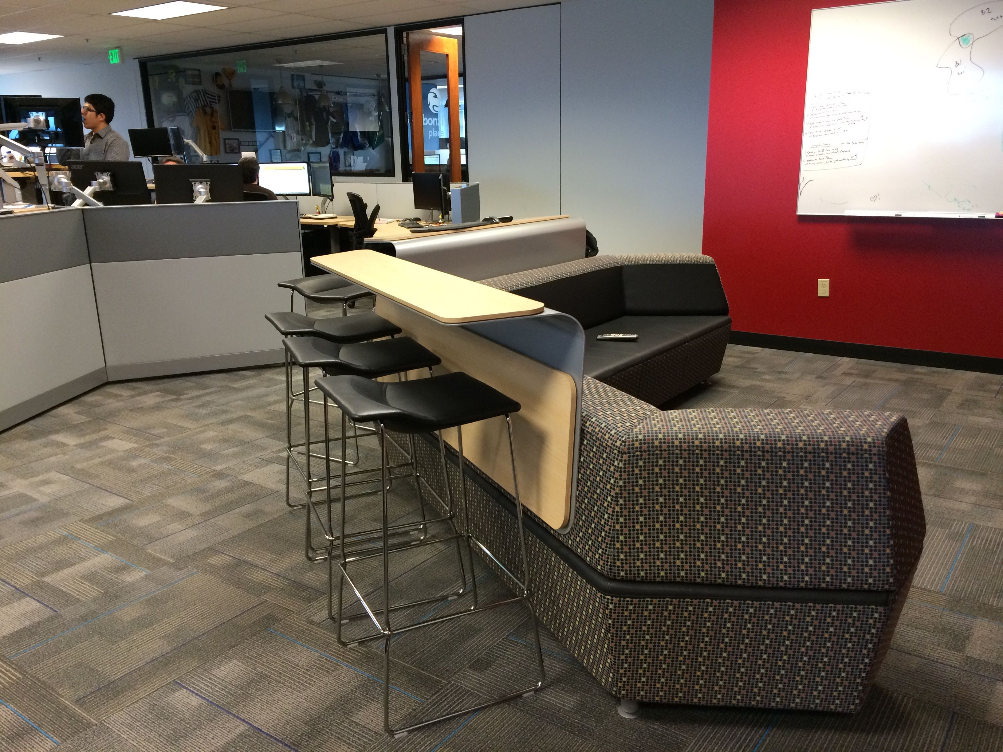 Pin By Workplace Advisors On Collaboration Spaces Media Scape Lounge Collaboration Space Lounge Space