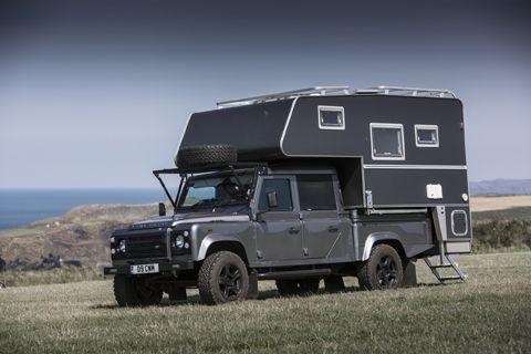 130 Land Rover Demountable Camper Pembrokeshire Wales Truck