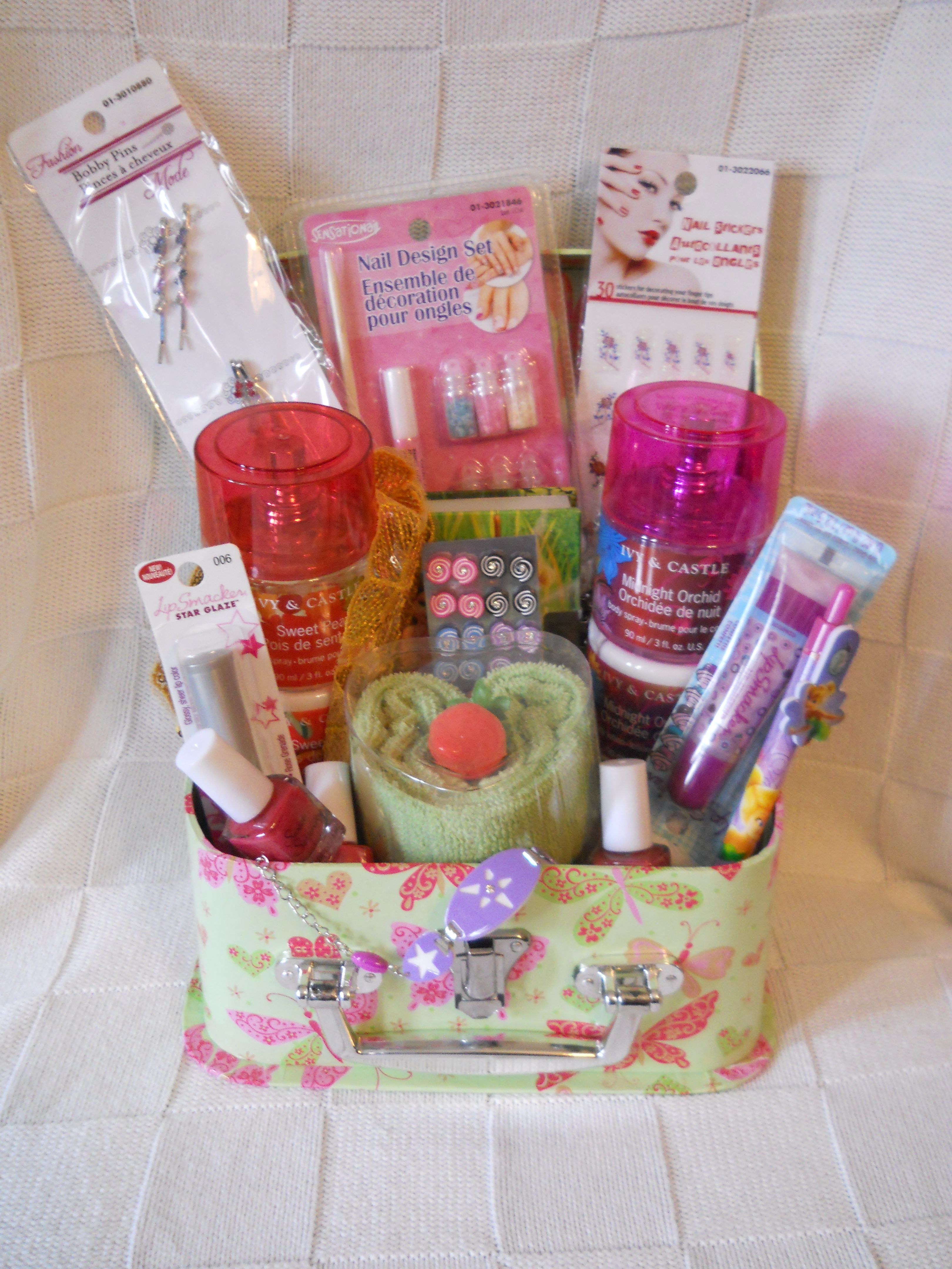 Little Girls SpaDiva Gift Basket by Tanyas Costom Gifts More