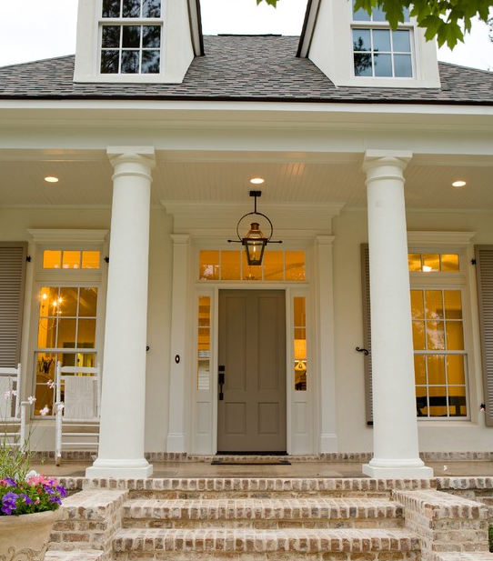 Taupe Exterior House Color Ideas: Love This Molding For Around Our Home's Door. Taupe And