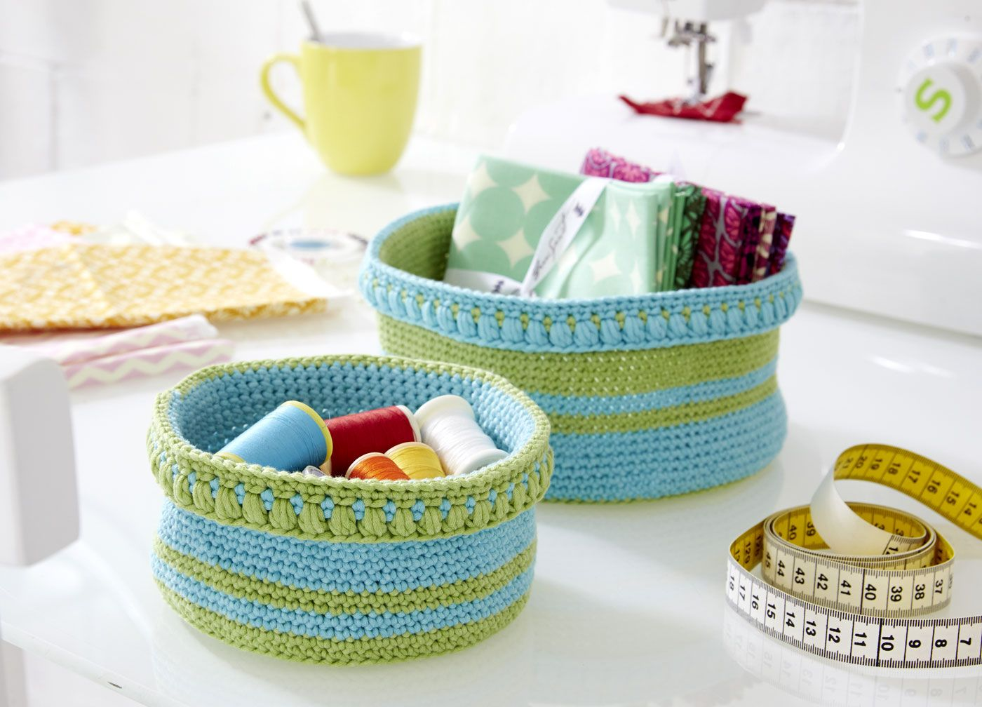 Ensemble de tasses au crochet – modèle de crochet gratuit   – crochet