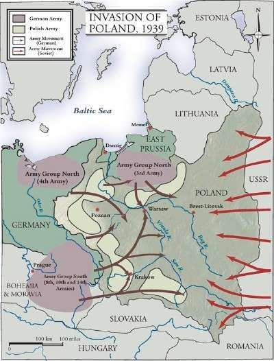 Invasion of Poland 1939 History - War \ Military Pinterest - fresh germany map after world war 1