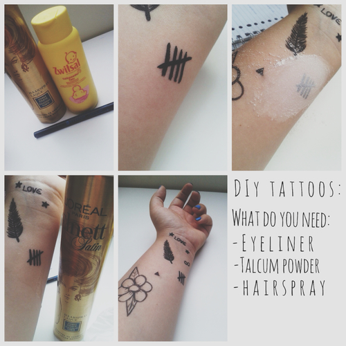 Diy Temporary Tattoo 1 Draw A Design With The Eyeliner 2 Put Some