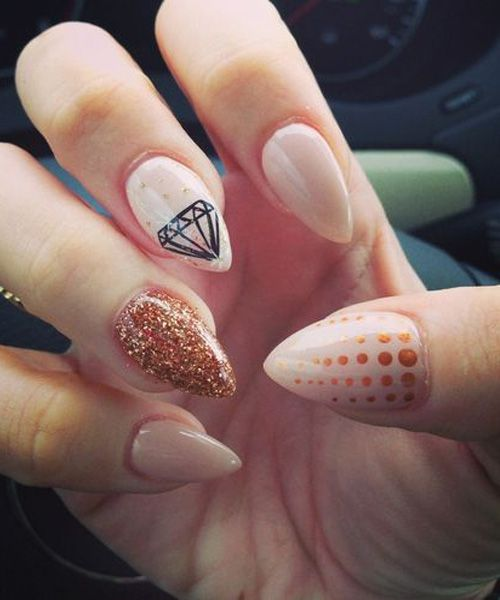 Lovely Unique Pointy Nail Designs For Prom Nails Pinterest