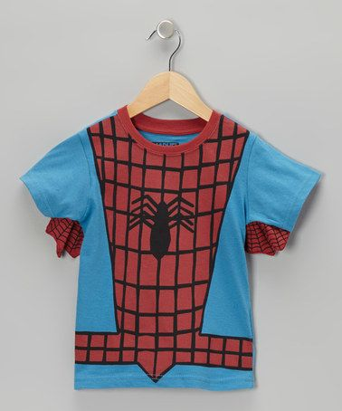 Another great find on #zulily! Blue & Red Spider-Man Outfit Tee - Boys #zulilyfinds