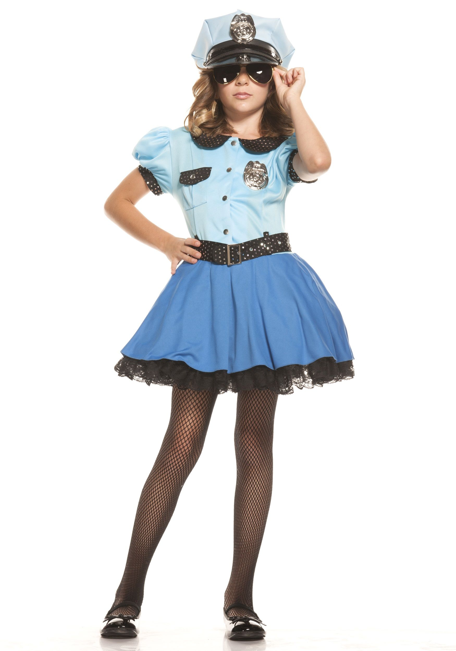 girls police uniform costume - Girls Cop Halloween Costume