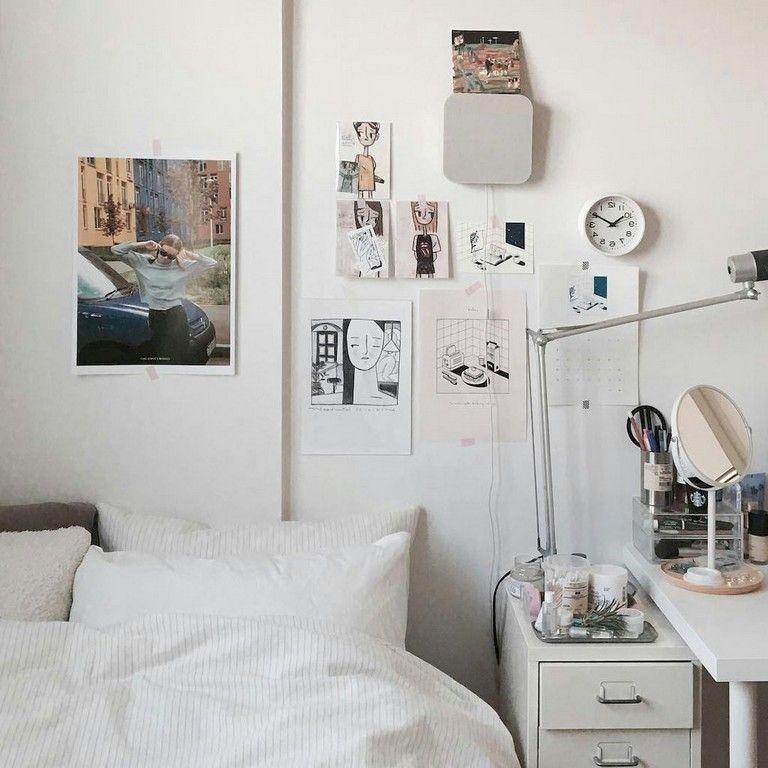 35 Cool Minimalist Dorm Room Decor Ideas On A Budget Dormroom Dormroomdecor Dormroomideas Minimalist Dorm Dorm Room Decor Dorm Bedroom