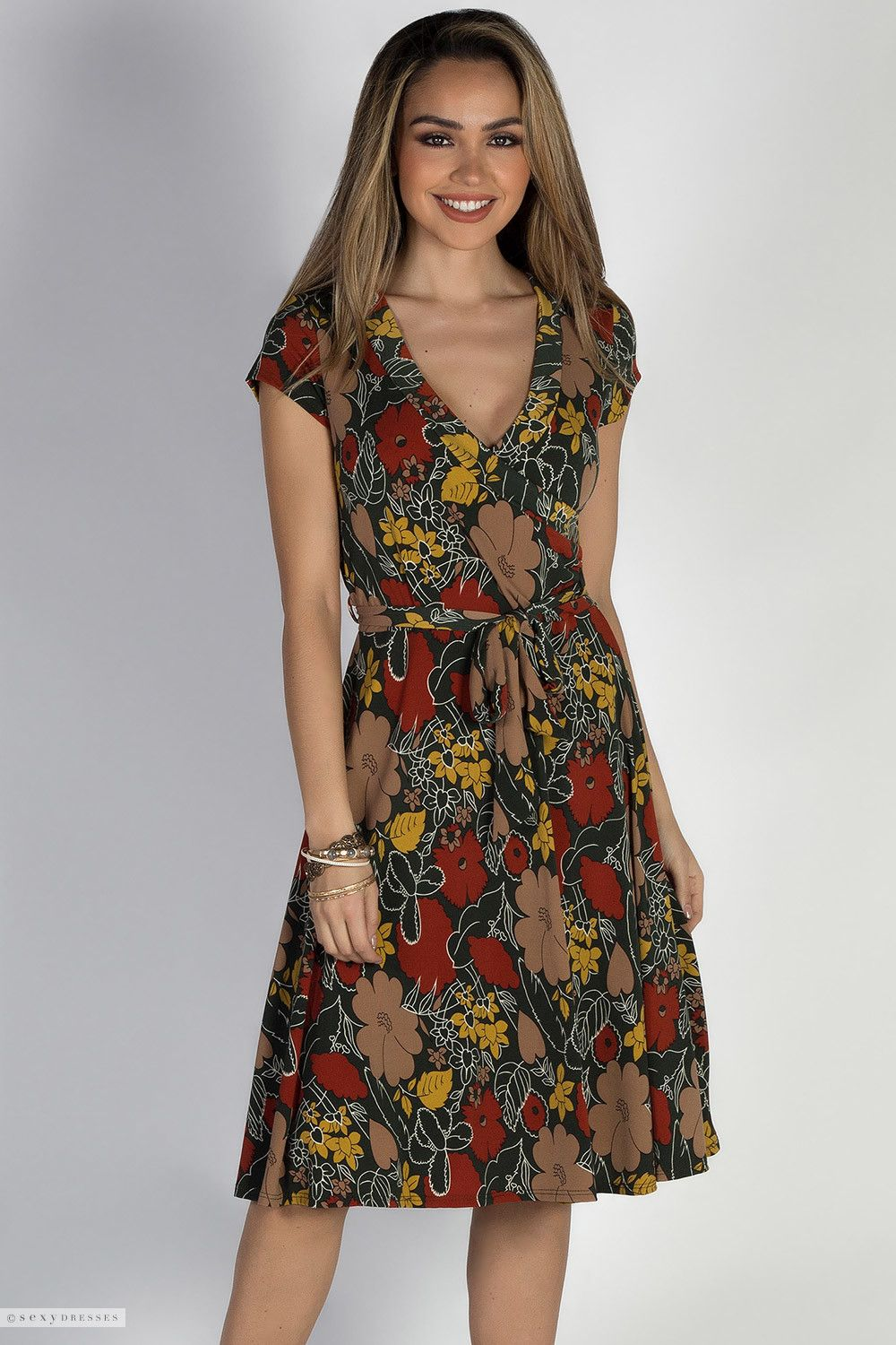 cute floral dresses with sleeves