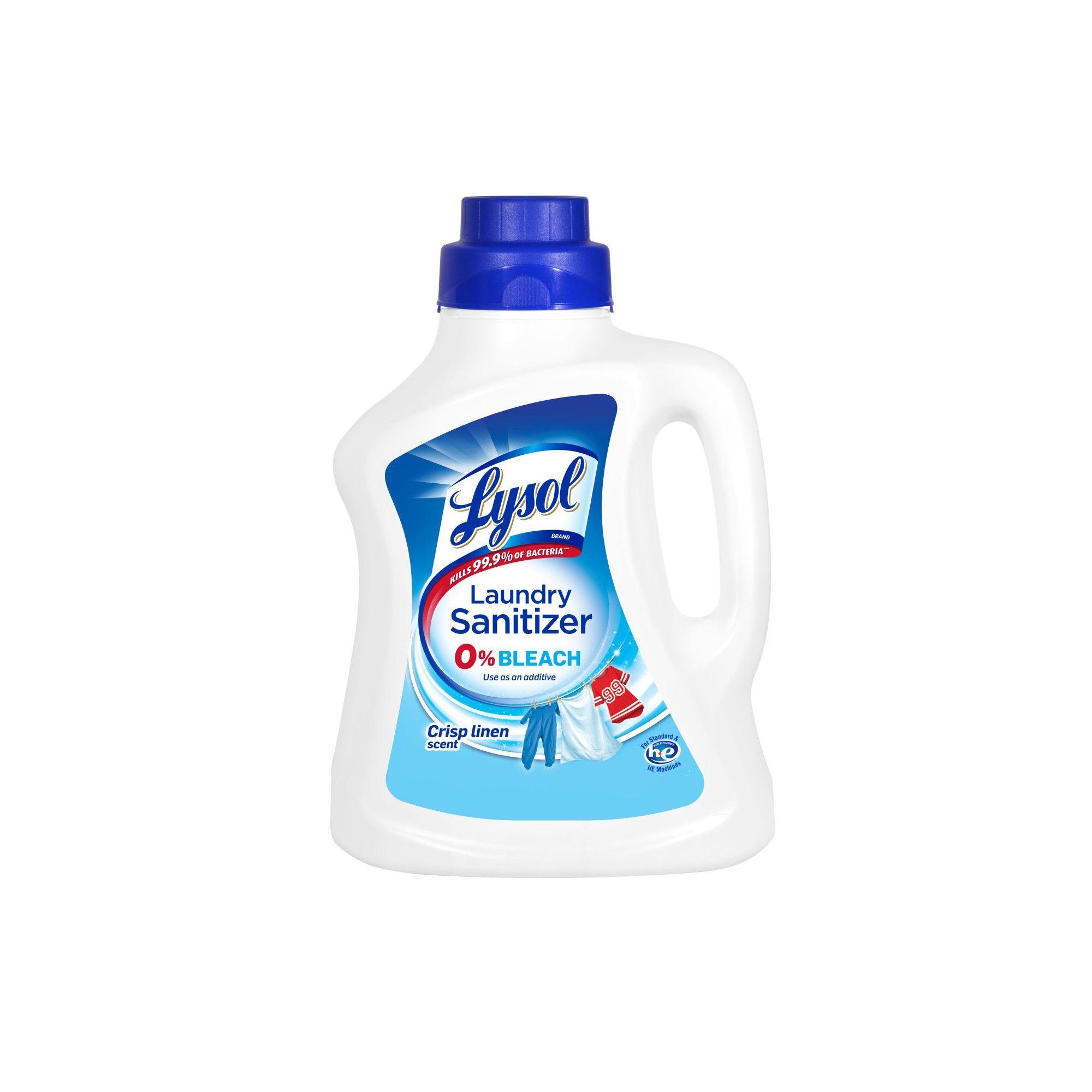 Lysol Laundry Sanitizer Crisp Linen Detergent Booster 90oz