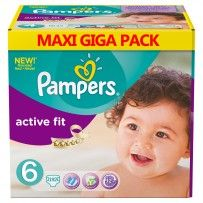 Pampers -  Couches  Active Fit Taille 6 - 192 - couches pas cher