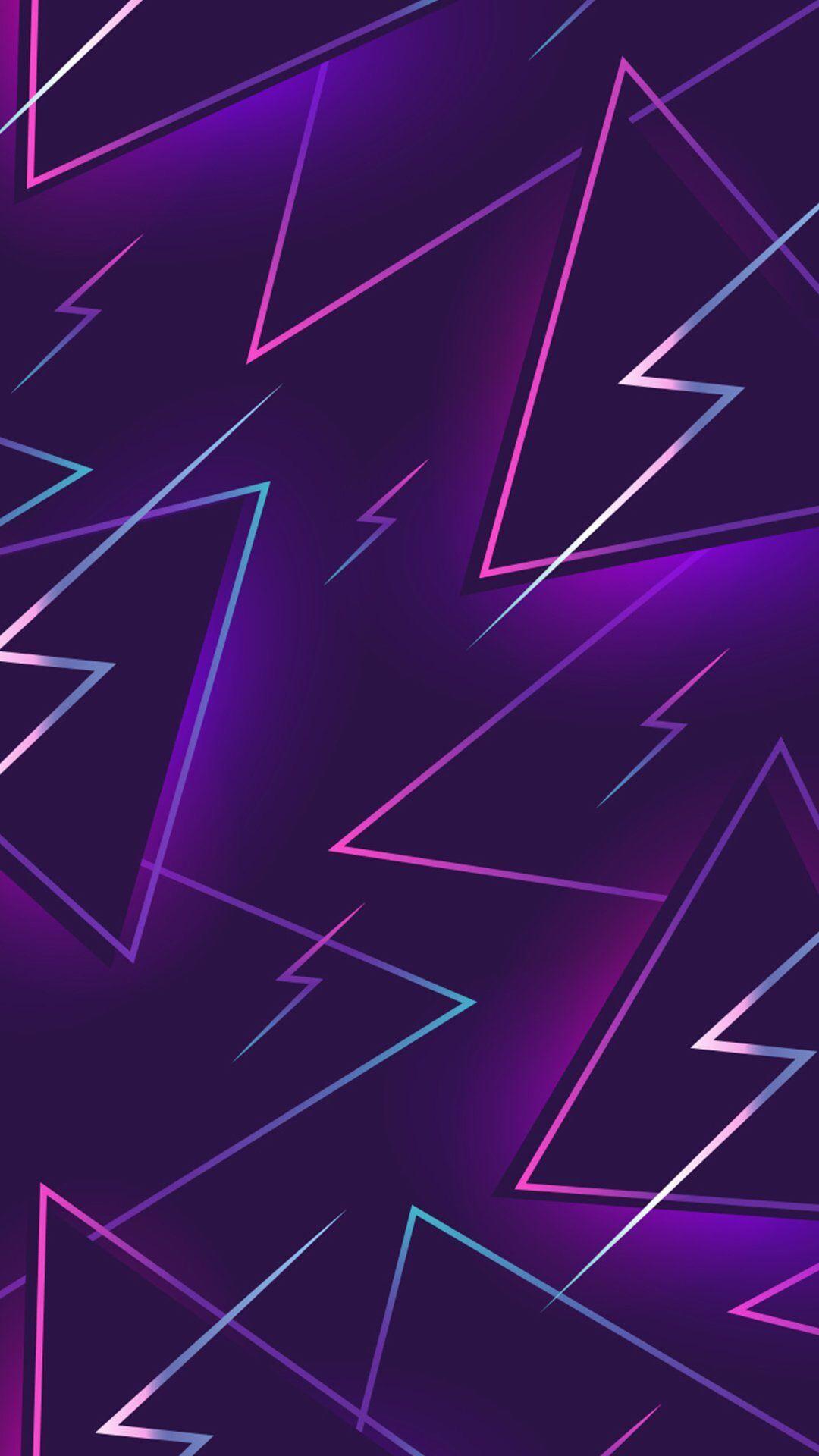 80s Purple Lightning In 2019 Purple Wallpaper Phone Neon