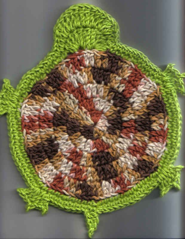 free turtle washcloth pattern | Crochet patterns | Pinterest | Mandalas