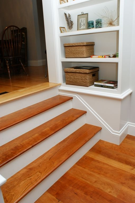 We Custom Milled These Cherry Stair Treads To Match The American Cherry  Floor We Created For The Client.