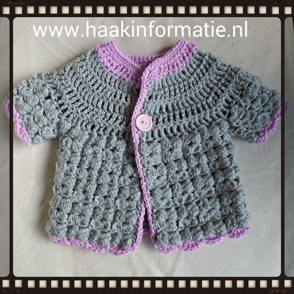Haakpatroon Baby Vestje Haken Crochet Baby Crochet En Baby Born