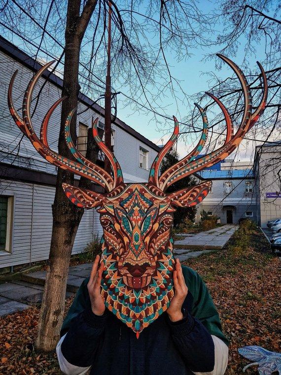 Deer Wood Wall Art Living Room Wall Art Wall Art Home Decor