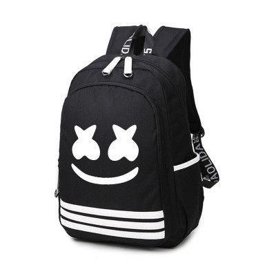 8b15b6915b78 2017 New marshmello Backpack Bag DJ Alone Nylon Luminous School Bag Travel  Bags