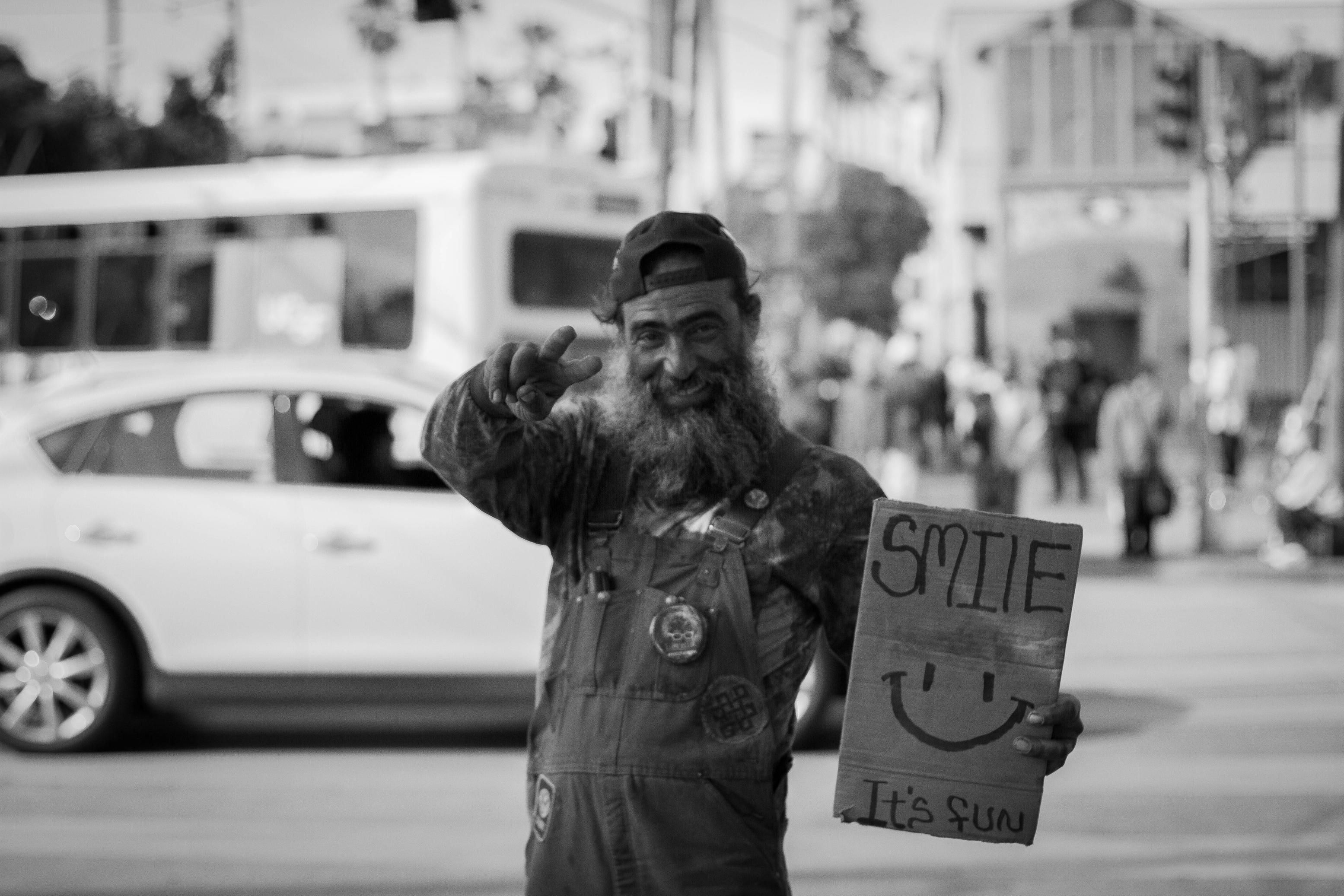 What Does It Mean To Be Content? | Homeless man, Man, Homeless