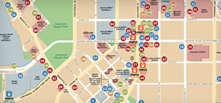 A great map of downtown Atlanta parking Things to Do in Atlanta