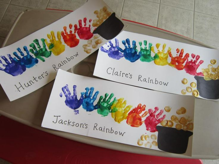 St. Patrick's Day Footprint & Handprint Crafts for Kids | Rainbows ...
