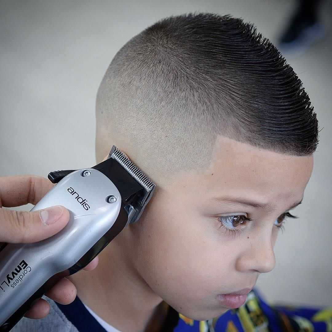 faded fohawk teenage boy haircut