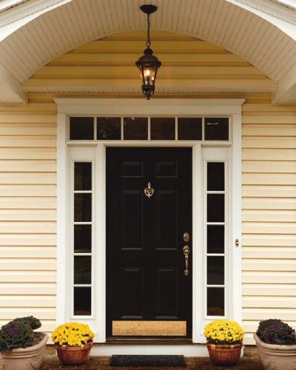 Fiberglass Entry Door Sidelights Transom Door Designs Plans Rumah