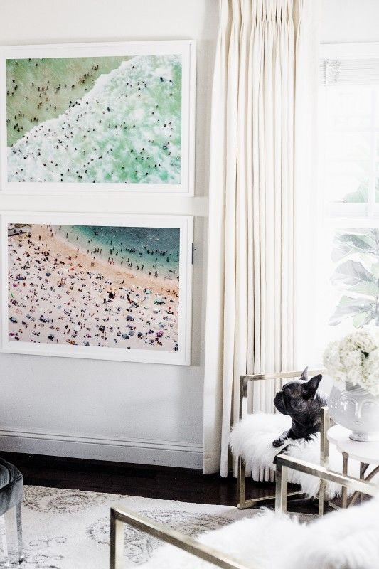 chriselle lim home gray malin framed beach prints