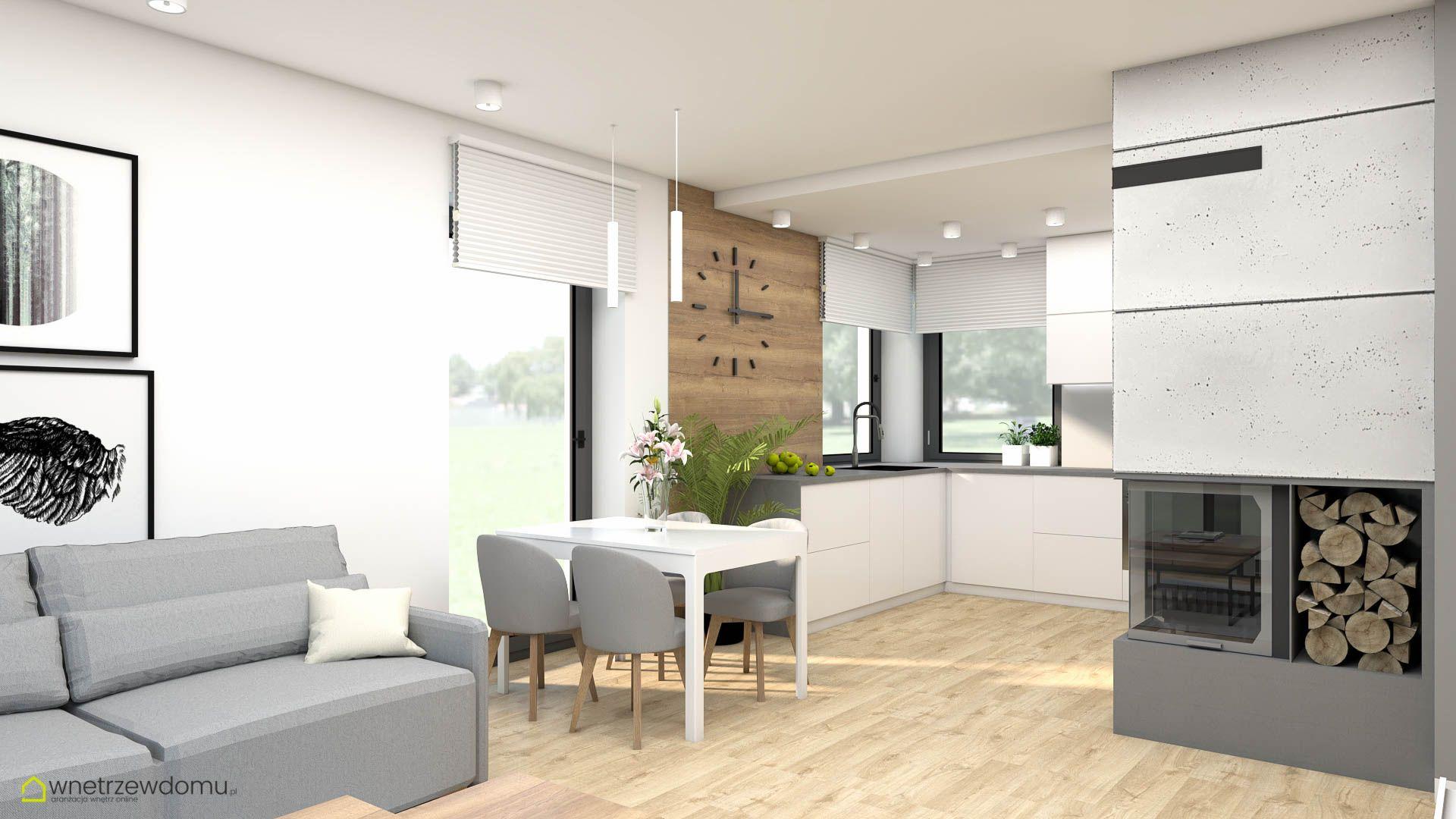 Salon I Dwie Wersje Kuchni Home Decor Home Decor