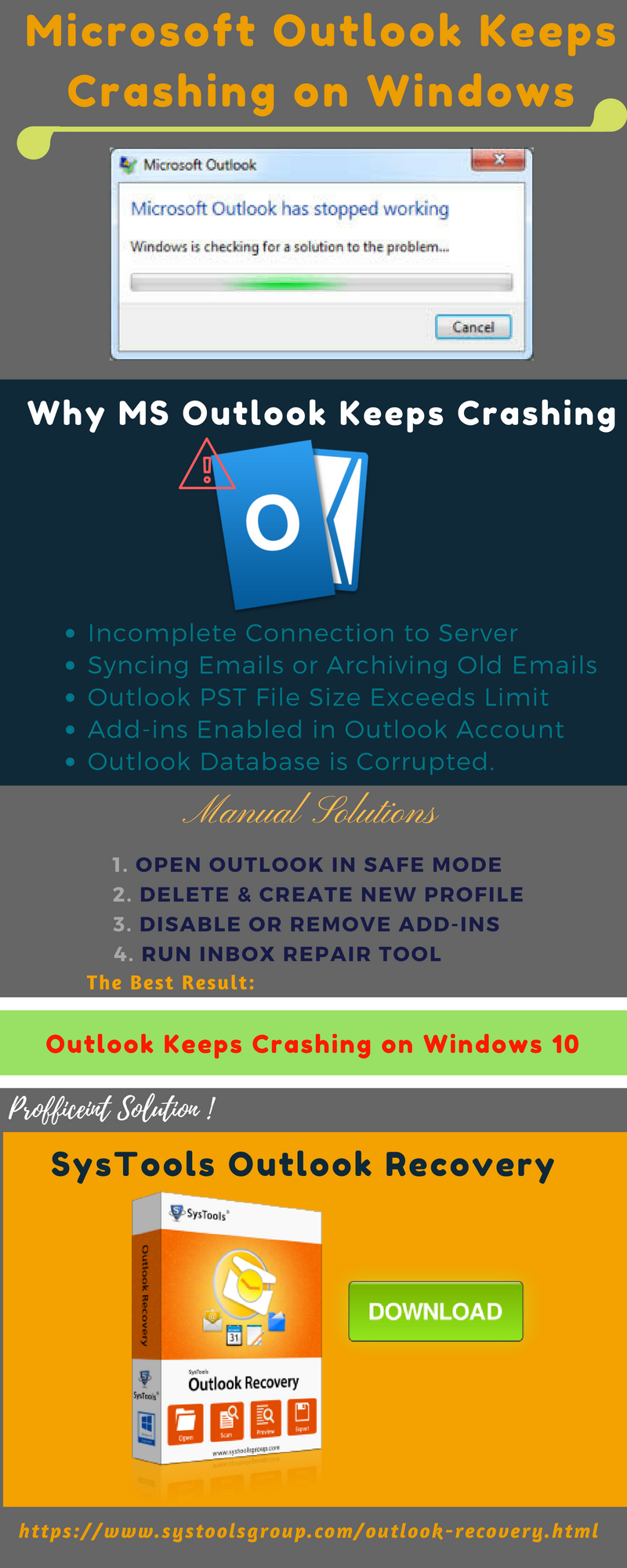 SysTools Outlook Recovery | Repair Corrupted Outlook PST Data Files